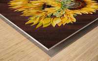 A Bunch Of Sunflowers Wood print