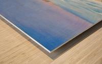 Ocean Shore Through The Hills Wood print