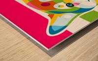 Shiba Inu Colorful Dog Wood print