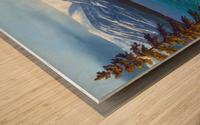 Winter At Sand Harbor Lake Tahoe Wood print