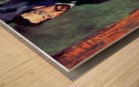 Modigliani - Portrait of Paul Alexanders before a green background Wood print