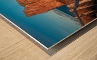 Lumiere sur le Rocher Perce Wood print