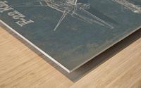 f 22 Wood print