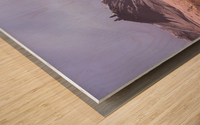 Gergeti in moring sunlight. Wood print