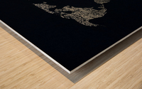 Dark Continent Ifren Wood print