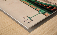 Impressions of Southwark Bridge Wood print