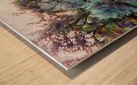 Colorful Olive Grove Wood print