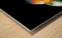 Bird of Prey in Colorful Pop Art Illustration Wood print