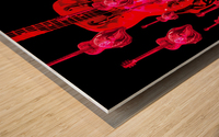 PinkRainBlackVelvet Wood print
