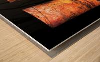 tree bark aBlaze Wood print