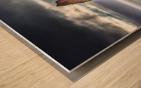 Cap Mont-Joli et son Rocher Perce Wood print