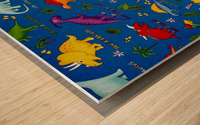 Dinosaurs Royal-Multi Wood print