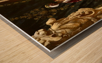 Le Sultan et son Tigre Wood print