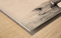 Up Close You Are More Wrinkly Than I Remember  Wood print