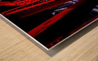 Tunnel of Red Rain Wood print