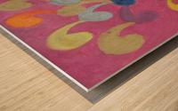 Pink Abstract Wood print
