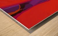 Violet Shape Wood print