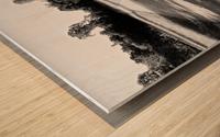 Public bench  Impression sur bois