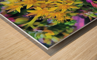 Echeveria Hybrid With Yellow Flowers Wood print