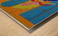 partage Wood print