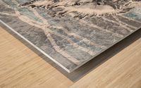 Silver Gray Seashell On Ocean Shore Waves And Rocks III Wood print
