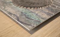 Silver Gray Seashell On Ocean Shore Waves And Rocks IV Wood print