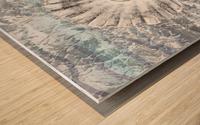 Silver Gray Seashell On Ocean Shore Waves And Rocks V Wood print