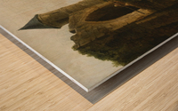 A Capriccio River Landscape With Washerwomen Near a Ruined Bridge Wood print
