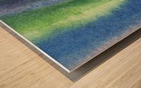 Ocean And Sea Beach Coastal Art Organic Watercolor Abstract Lines IV Wood print