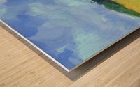 Parkton Landscape in Spring Green Wood print