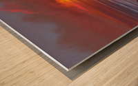 Blazing Skies Wood print