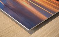 Table Top Mountain Sunset Wood print