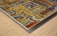 MOE S DINER CASSE CROUTE DU COIN MONTREAL WINTER SCENE Wood print