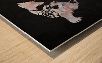 Artistic World Map XII Wood print