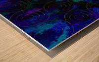 Blue Splash Wings Wood print