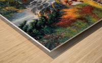 Galloping River Wood print