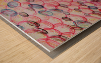 COLORFUL SPIRALS Wood print