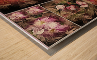 Vintage Floral Imaginings Collage Wood print