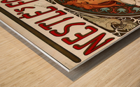 Nestle by Alphonse Mucha Wood print
