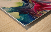Dichotemy Abstract Wood print