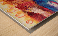 Rainbow Lizard Abstract Wood print