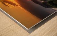 Coucher de soleil au Bic Wood print