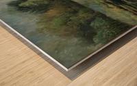 Calhoun pond Wood print