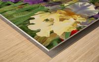 Two Iris Wood print