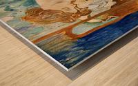 Juillet July Wood print