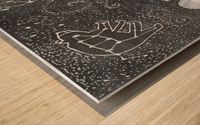 Daydreaming--Warli Tribal art Wood print