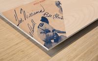 1950 Boston Red Sox Score Book Canvas Art Wood print