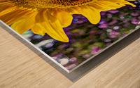 Sunflower Creative Wood print