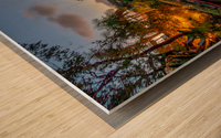 Venice Canal At Twilight Wood print
