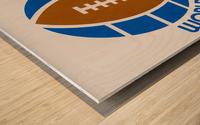 1974 World Football League Logo Art Wood print